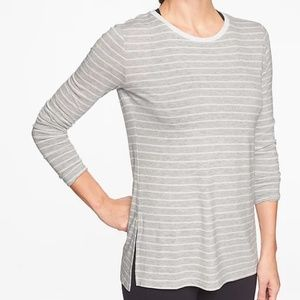 Athleta Threadlight Stripe Layering LS. SP. NWT